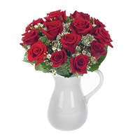 Classic rose bouquet in a pitcher (BF88-11KL)